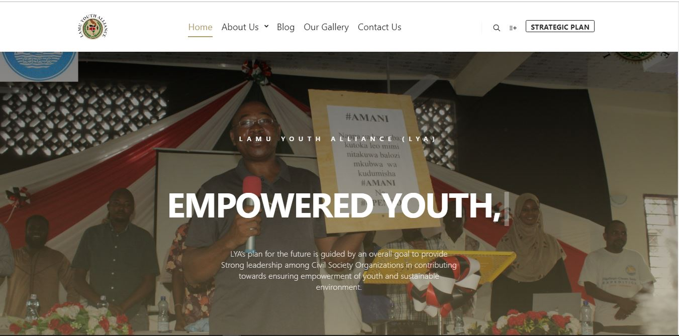 Lamu Youth Alliance Website